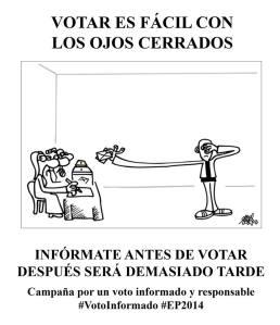 Votar es fácil con los ojos cerrados