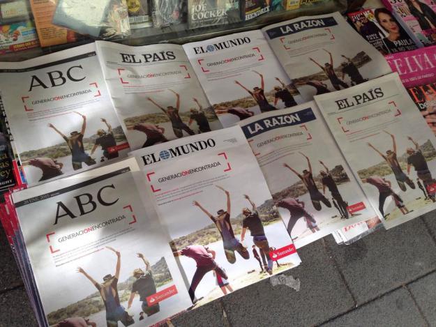 Portadas Periódicos Banco Santander